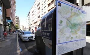 Taxistas taxis plaza Lazurtegui mapa de recorrido en el Bierzo /