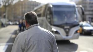 BARCELONA 21 03 2016 Conductores de autocares explotados Jose Maria pide que no aparezca su nombre y que no se le reconozca FOTO FERRAN NADEU