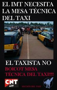 boikot mesa tecnica del taxi