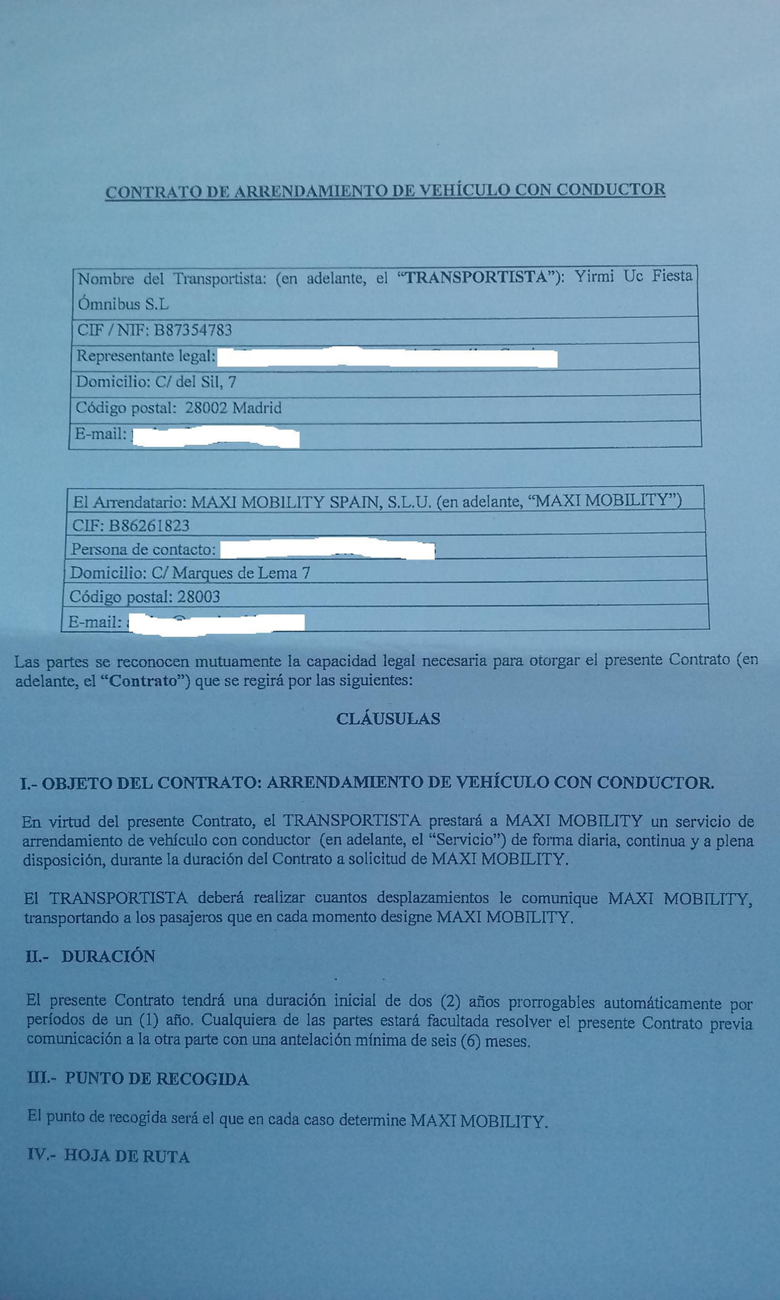 VTC (alquiler de vehículos con conductor) | | Pàgina 3
